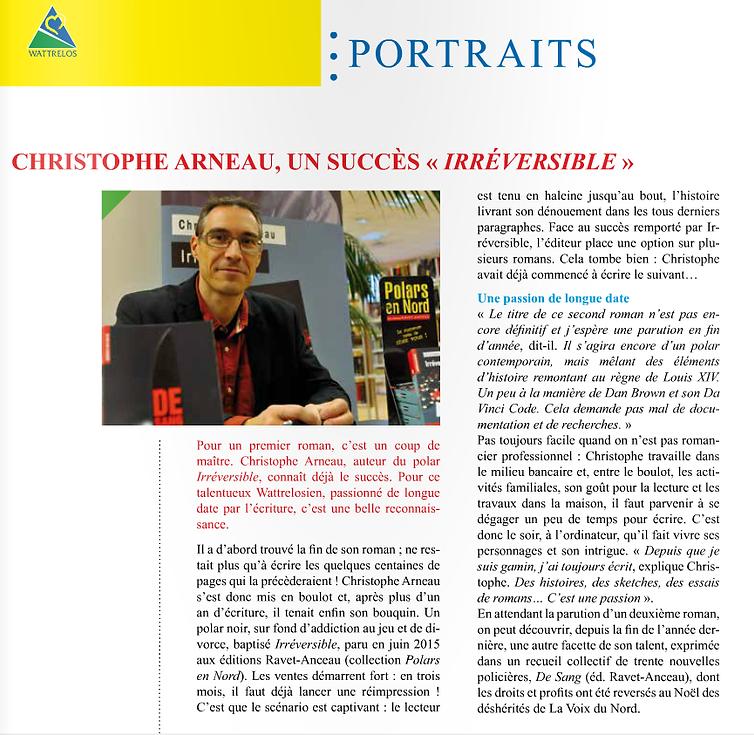 Christophe Arneau journal de Wattrelos