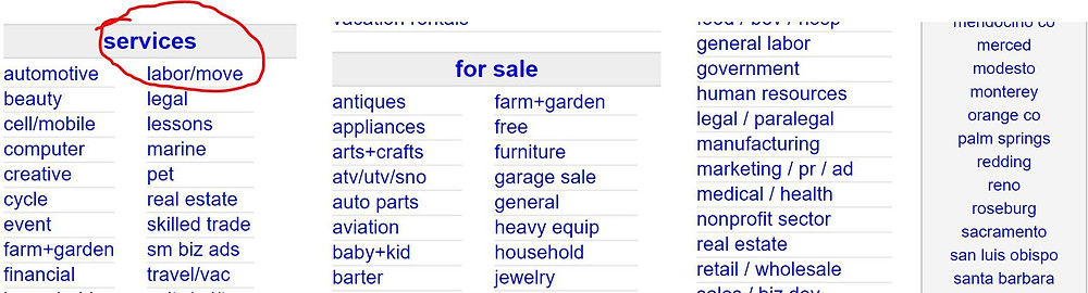 Finding a contractor on Craigslist