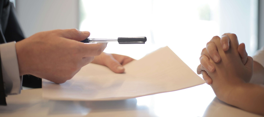 Signing inheritance paperwork