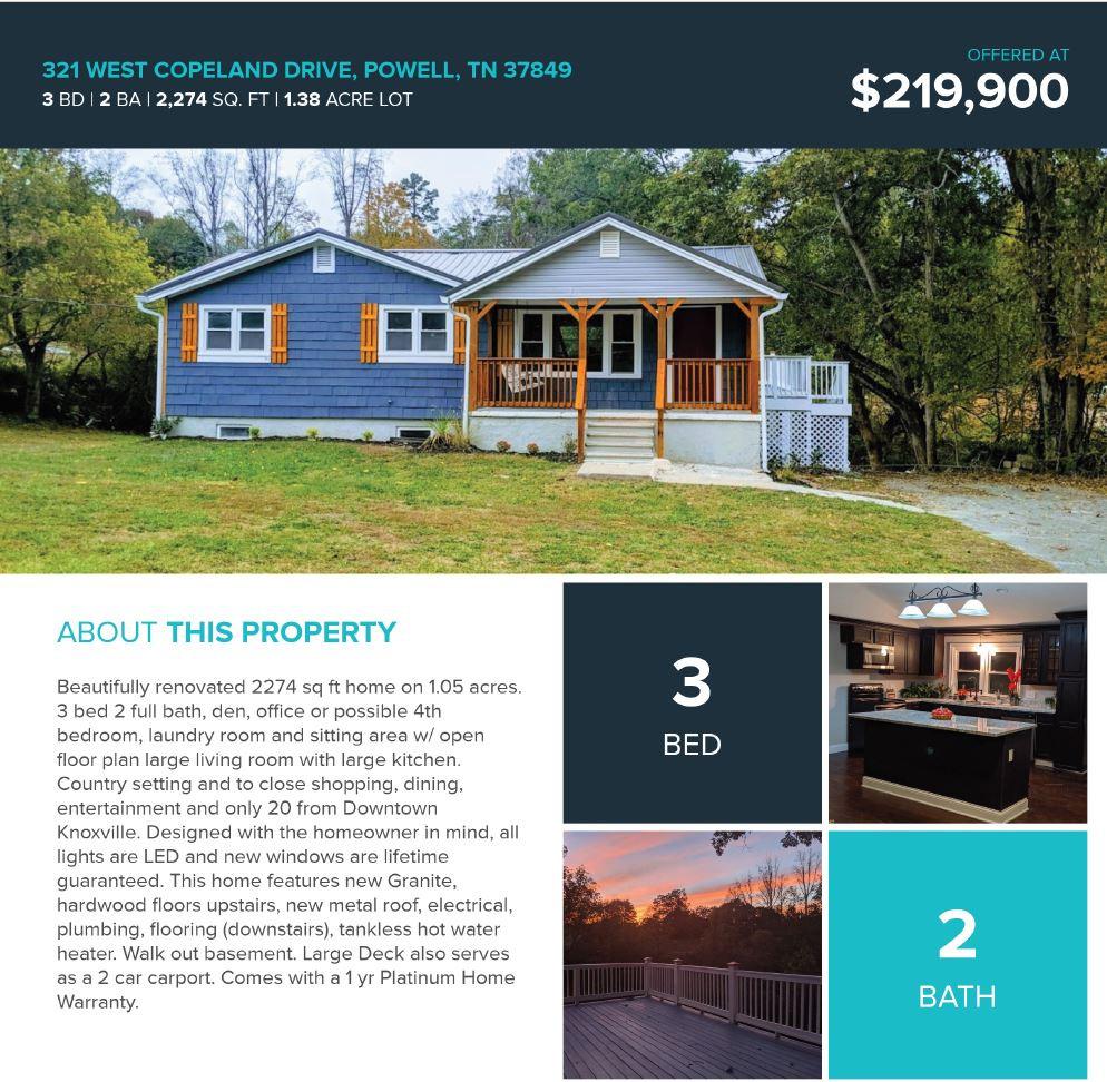 Contenza Properties - Open house flyer example