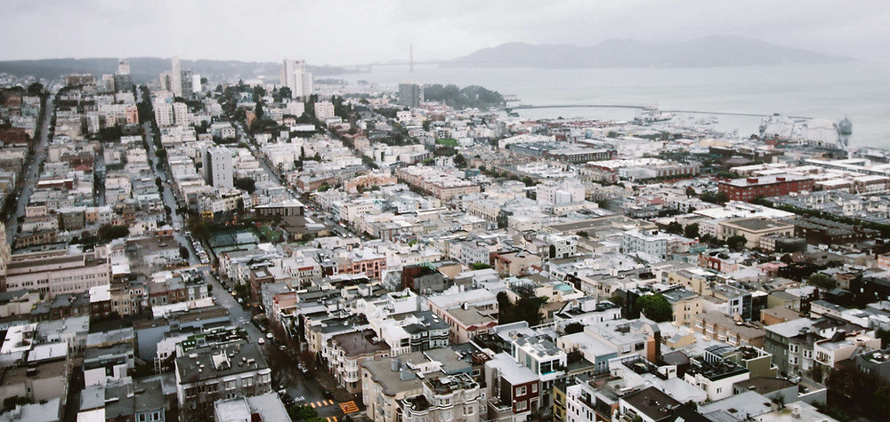 Ariel view of San Francisco, California