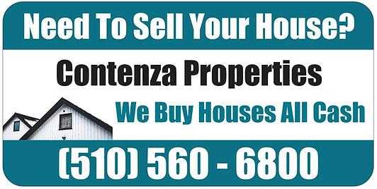 """Contenza Properties - """"We Buy Houses"""" - Car Door Magnet"""