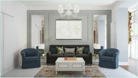 3D визуализация гостиной