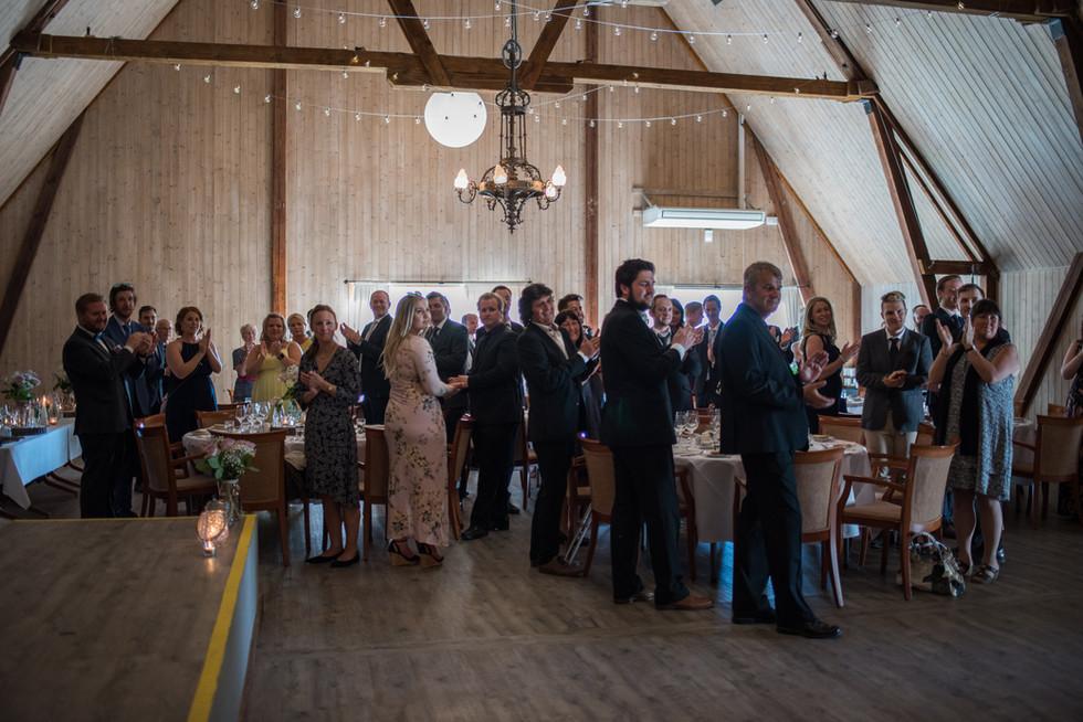 Velkommen til middag Brudepar, foto: privat