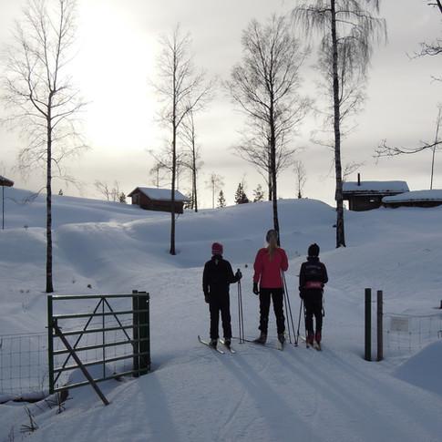 Skitur på vinteren