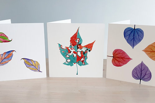 """Note Cards """"LEAVES"""" (3-Pack)"""