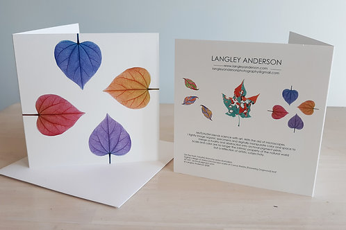 """Note Cards """"LEAVES"""" (5-Pack)"""