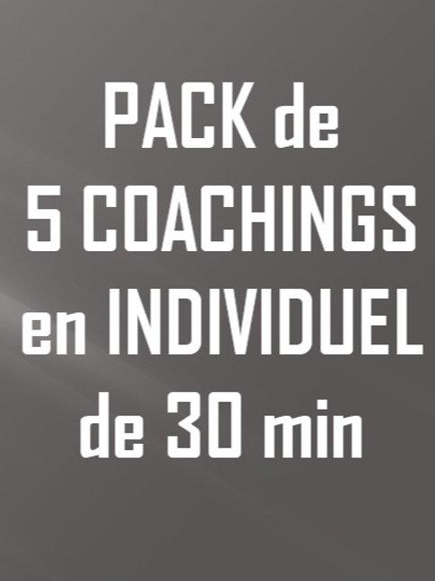 Coaching individuel - 5 séances 30min