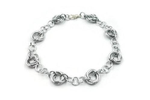 Linked Möbius Bracelet, Aluminum ($12-$15)