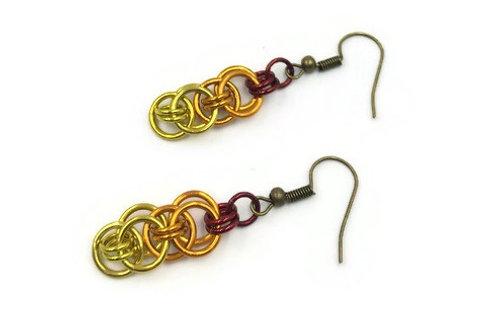 Helm Chain Earrings, Blaze ($5-$6)