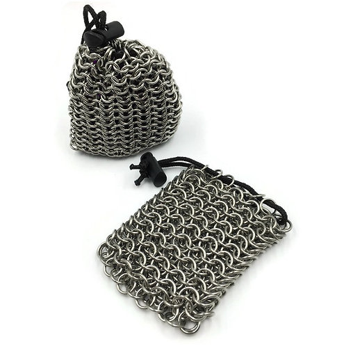 Stainless Steel Dice Bag, Solid, Tight ($45) or Loose ($35) Weave