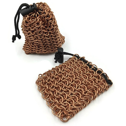 Copper Dice Bag, Solid, Tight ($38) or Loose ($28) Weave