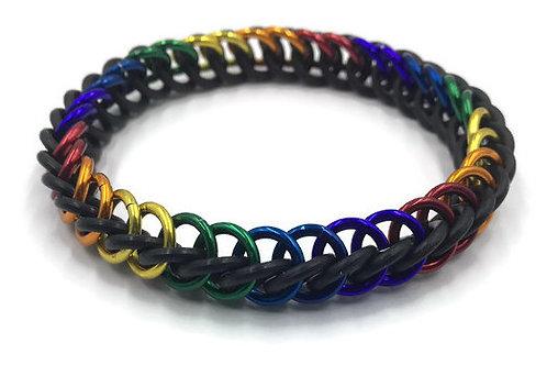 Stretchy Half Persian Bracelet, Rainbow