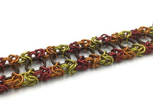 Dual Byzantine Bracelet, Fall Leaves ($37-$40)