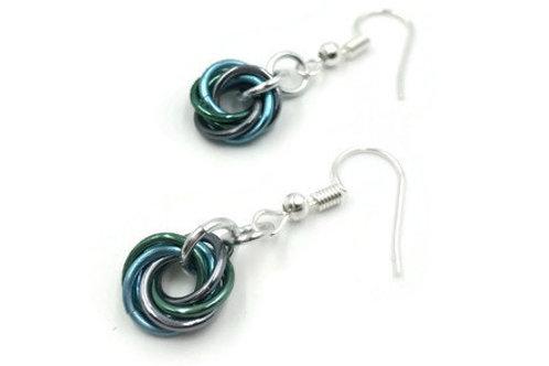 Single Mobius Earrings, Seaside ($5-$6)