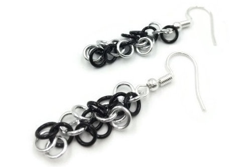 Shaggy Loops Earrings, Spiral, Hypoallergenic Hooks