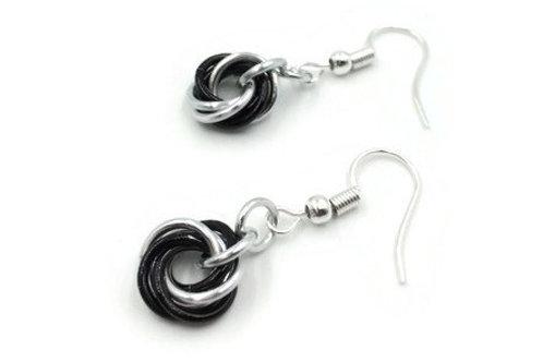 Single Mobius Earrings, Split, Clip-ons