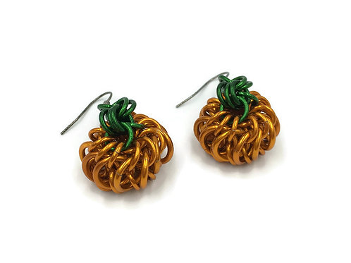 Whirlybird Pumpkin Earrings ($12-$13)