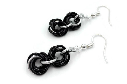 Double Mobius Earrings, Vine, Hypoallergenic Hooks