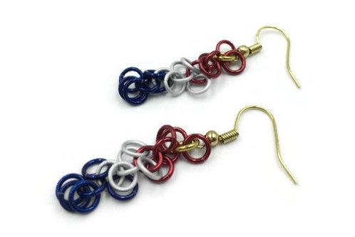 Shaggy Loops Earrings, Patriotic ($8-$9)