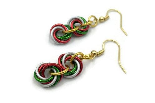 Double Mobius Earrings, Christmas ($8-$9)