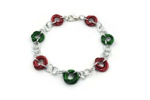 Linked Möbius Bracelet, Christmas ($12-$15)