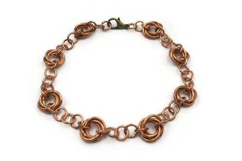 Linked Möbius Bracelet, Copper ($12-$15)