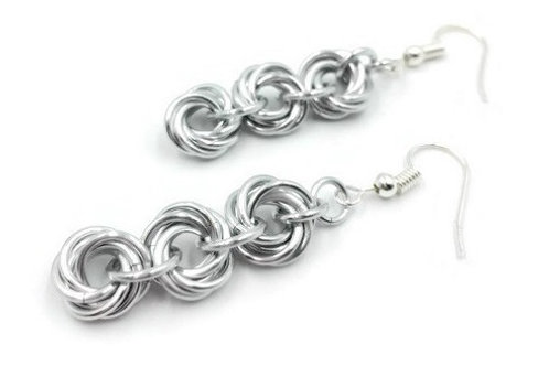 Triple Mobius Earrings, Solid, Basic Hooks