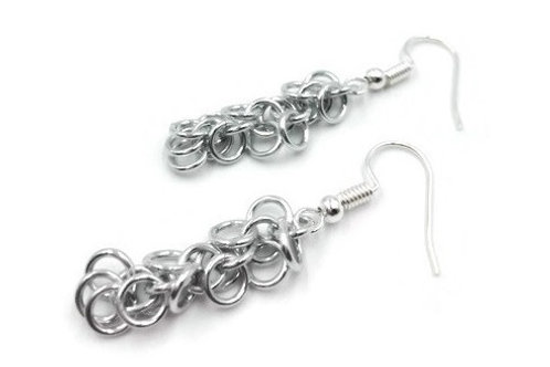 Shaggy Loops Earrings, Solid, Hypoallergenic Hooks