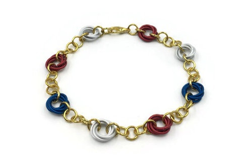 Linked Möbius Bracelet, Patriotic ($12-$15)