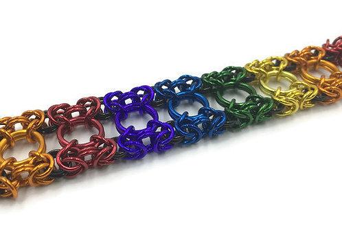 Dual Byzantine Bracelet, Bright Rainbow ($37-$40)