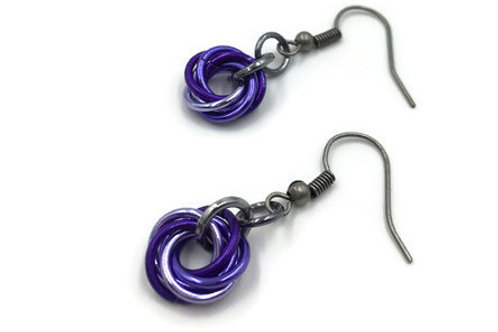 Single Mobius Earrings, Purple Mix ($5-$6)