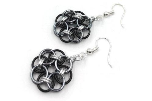 Helm Chain Medallion Earrings, Monochromatic ($7-$8)