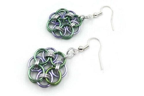 Helm Chain Medallion Earrings, Pastels ($7-$8)