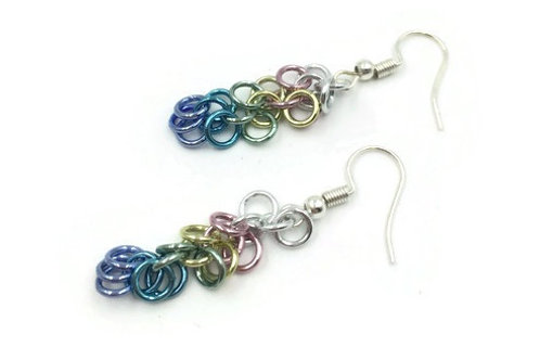 Shaggy Loops Earrings, Pastels ($8-$9)