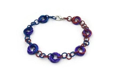 Linked Möbius Bracelet, Purple Palette ($12-$15)