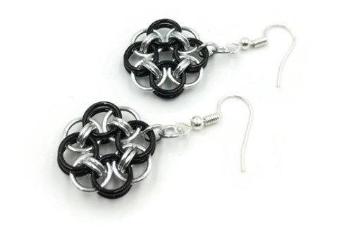 Helm Chain Medallion Earrings, Interior, Hypoallergenic Hooks