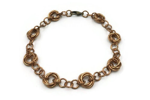 Linked Möbius Bracelet, Bronze ($14-$17)