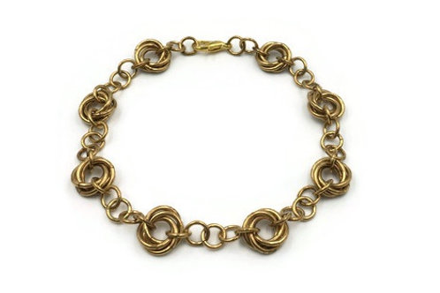 Linked Möbius Bracelet, Brass ($12-$15)