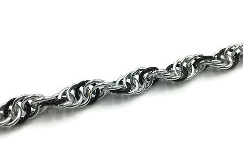 Spiral Bracelet, Three-one, 6.5 inches