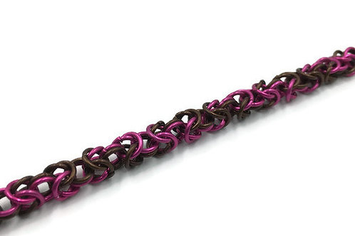 Byzantine Bracelet, Pink Chocolate ($19-$22)