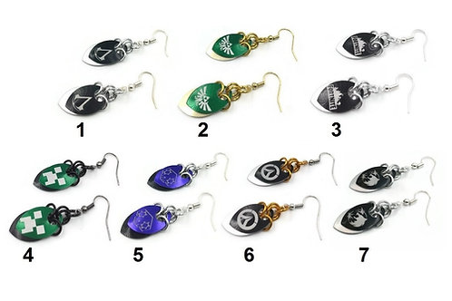 Video Games Scalemail Earrings ($10-$11)