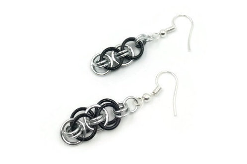 Helm Chain Earrings, Interior, Clip-ons
