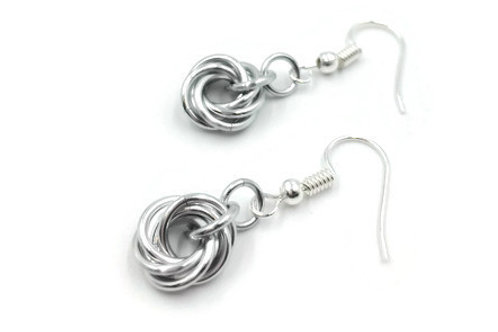 Single Mobius Earrings, Solid, Basic Hooks