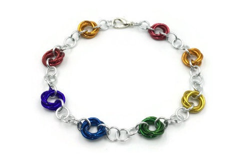 Linked Möbius Bracelet, Rainbow ($12-$15)