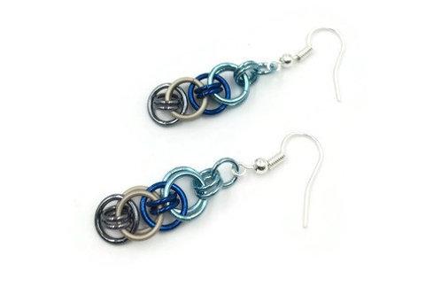 Helm Chain Earrings, Rocky Shores ($5-$6)