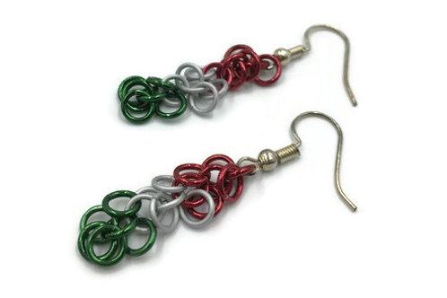 Shaggy Loops Earrings, Christmas ($8-$9)