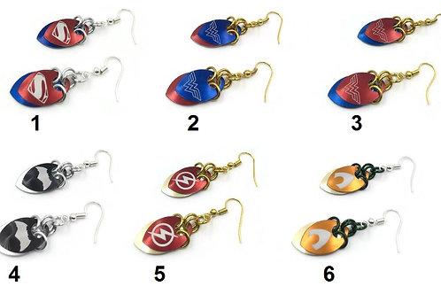Superheroes Scalemail Earrings ($10-$11)