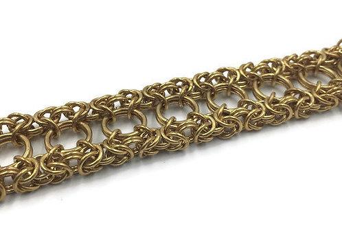 Dual Byzantine Bracelet, Brass ($37-$40)
