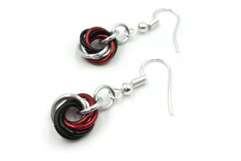 Single Mobius Earrings, Triad, Basic Hooks